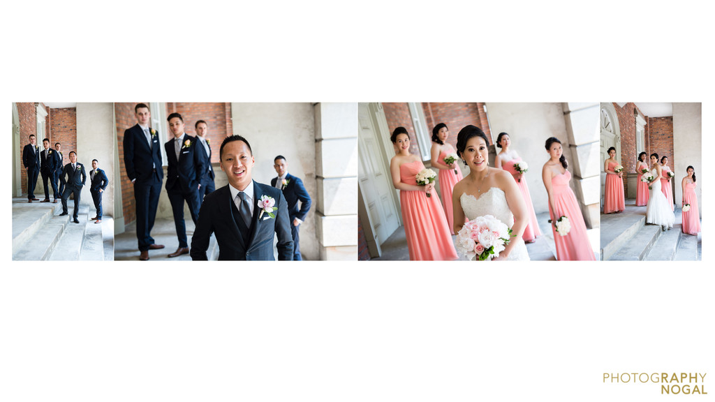Bridal party wedding photos at Osgood Hall