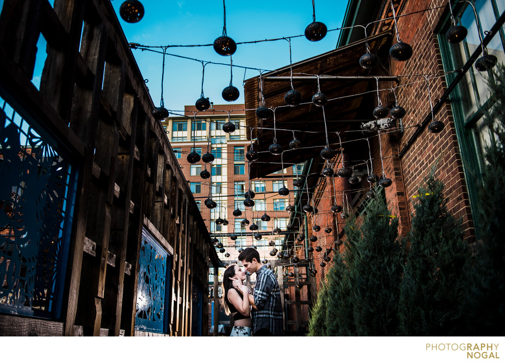 Engagement Photos from Distillery District in Toronto