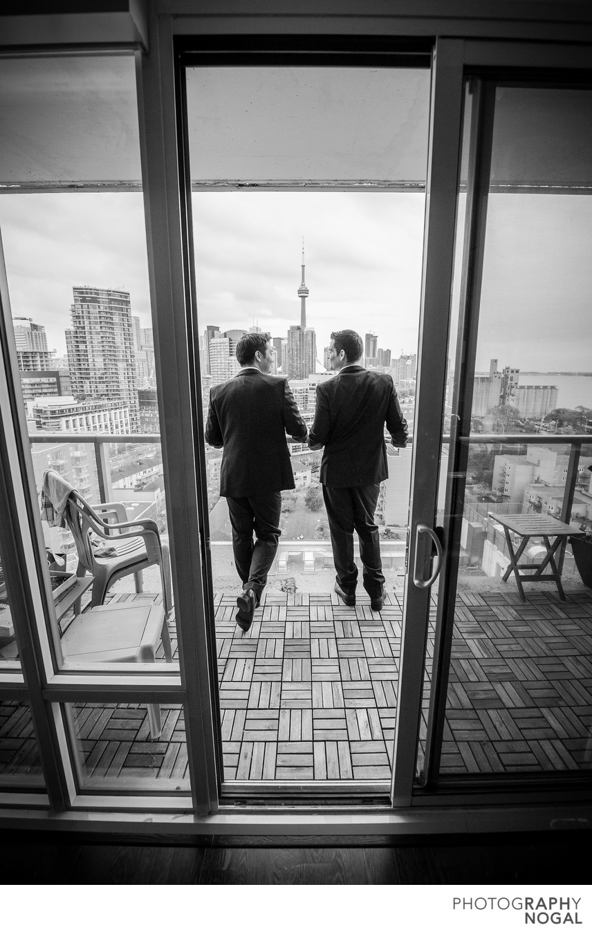 Same Sex Couple Enjoying the View of Toronto