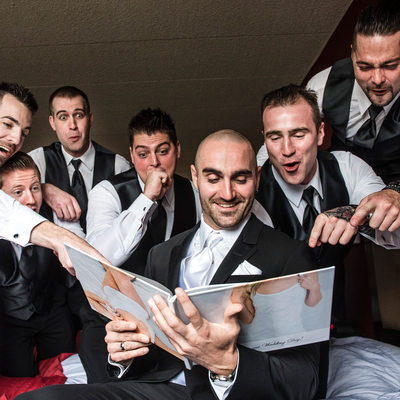 Boudoir Book Reveal and Groomsmen Reaction