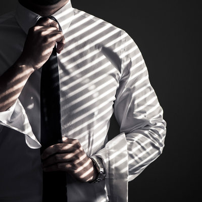 Light Stripes on Groom's Shirt