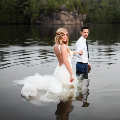 Trash The Dress at Rockwood Conservation Area