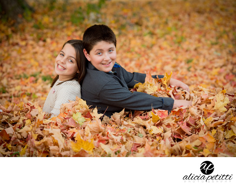 Old Stone Church West Boylston Professional Fall Family Portrait Photographer