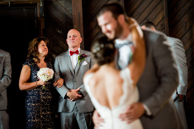 Father's reaction to watching his little girls first dance with her new husband.