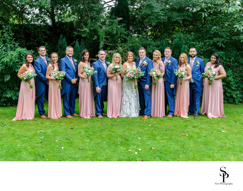 Bridesmaids and Groomsmen at Mosborough Hall Hotel