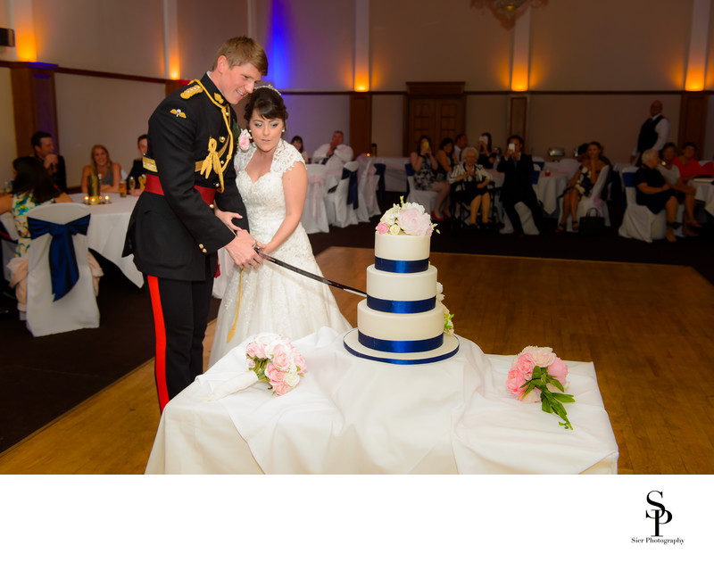 Kenwood Hall Sheffield Wedding Cake Cutting