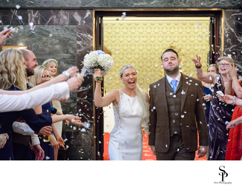 Cutlers Hall Sheffield Wedding Confetti