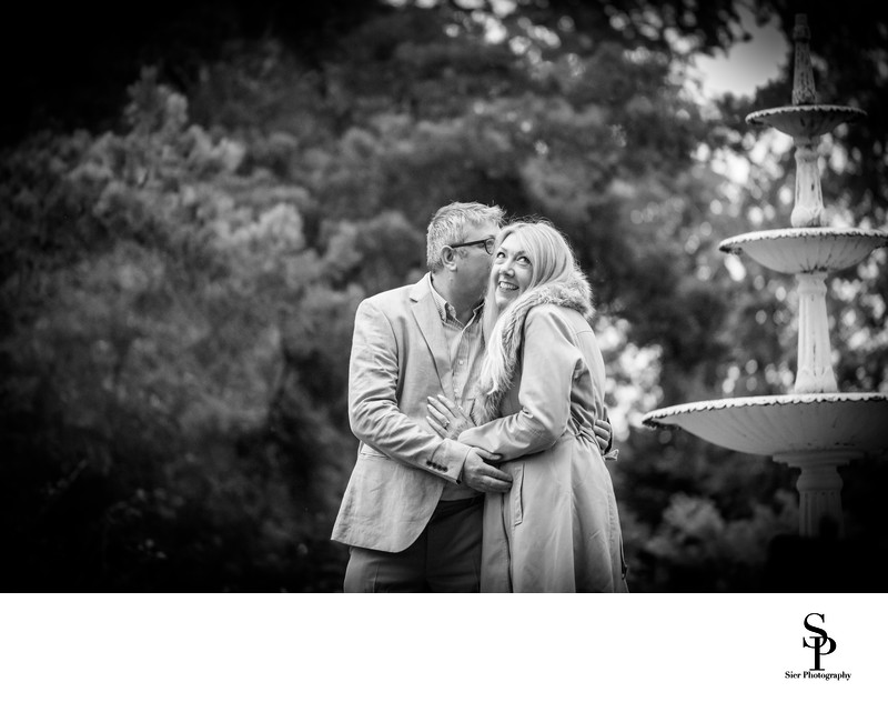 Botanical Gardens Sheffield Engagement Fountain