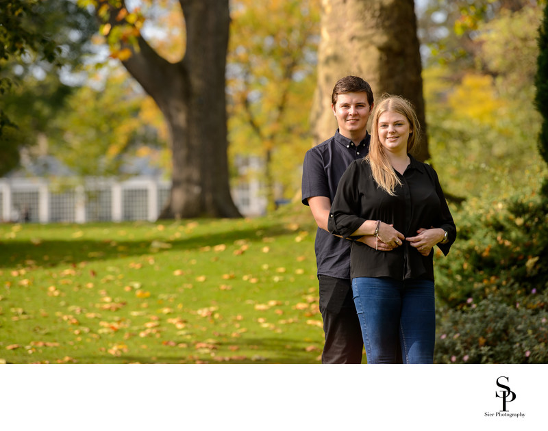 Autumn Engagement Photography Botanical Gardens