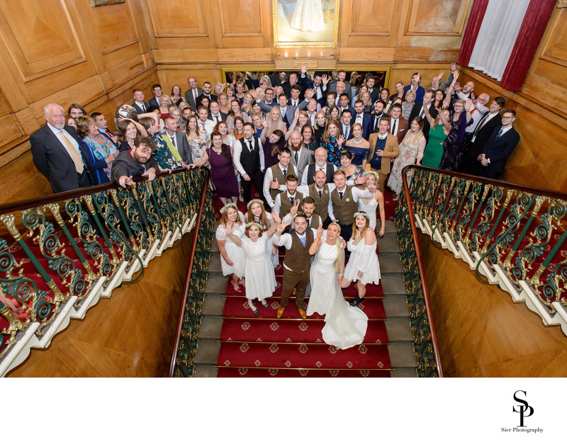 Cutlers Hall Stairs Group Photograph