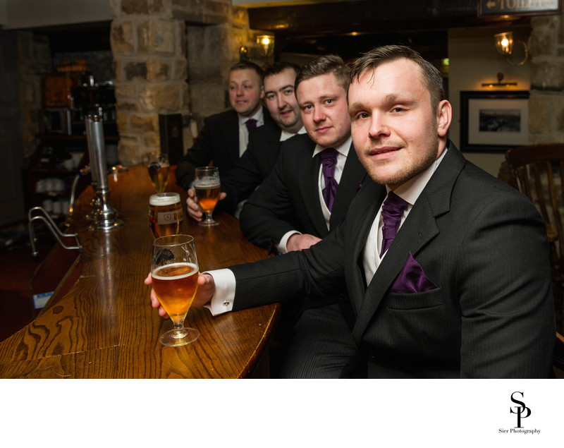Peak Edge Hotel Wedding Groomsmen