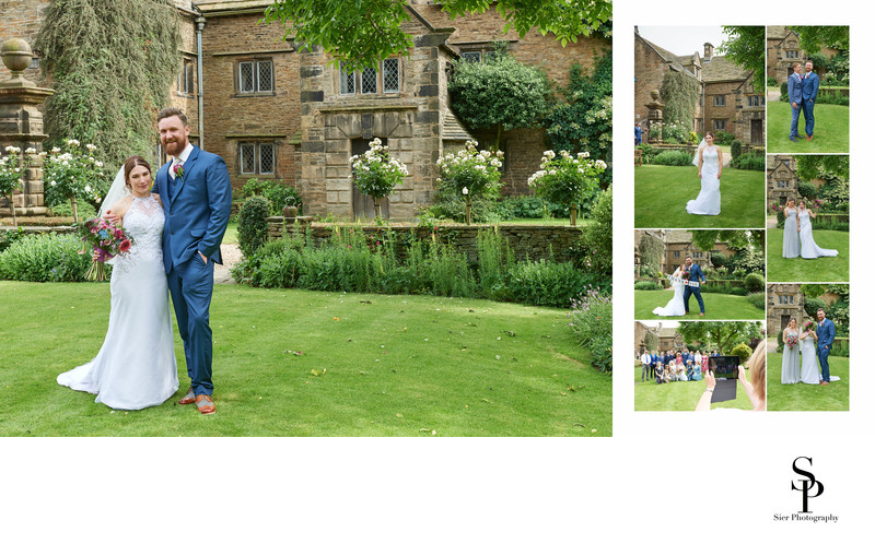 Bride and Groom at Woodthorpe Hall Wedding