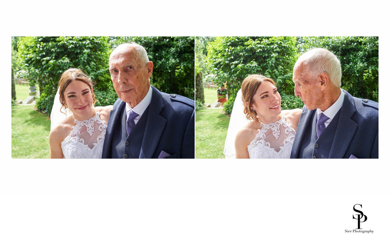 Bride with Grandfather Woodthorpe Hall Wedding