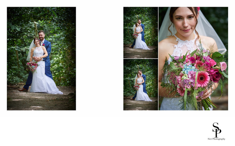 Bride and Groom Photographs in Ecclesall Woods