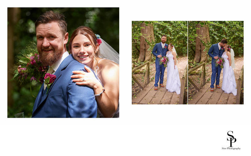 Bride and Groom Portraits in Ecclesall Woods