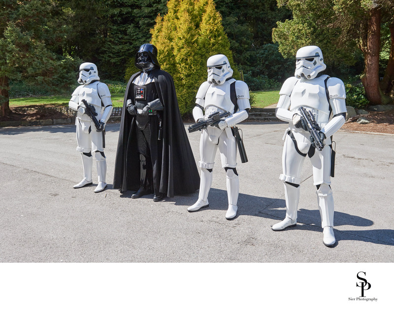 Darth Vader at Whirlowbrook Hall Sheffield wedding