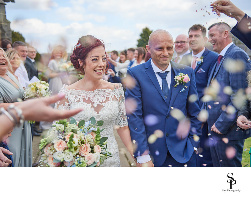 St Mary's Church Ecclesfield Confetti Photograph