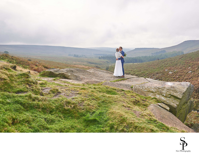 Wedding Photography on Burbage Edge in Derbyshire