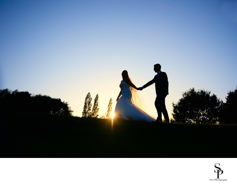 Wedding Photography Silhouette Tankersley Park Golf