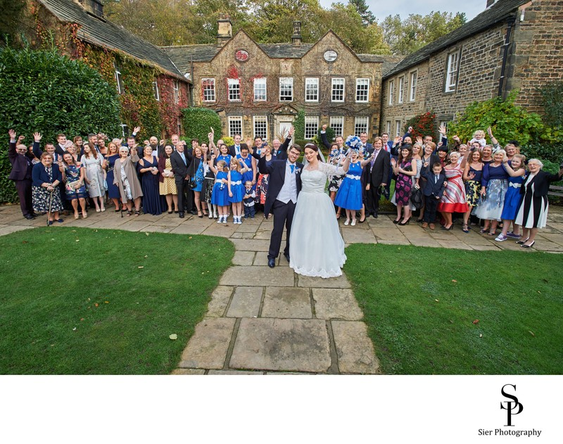 Whitley Hall Sheffield Full Wedding Party Photo
