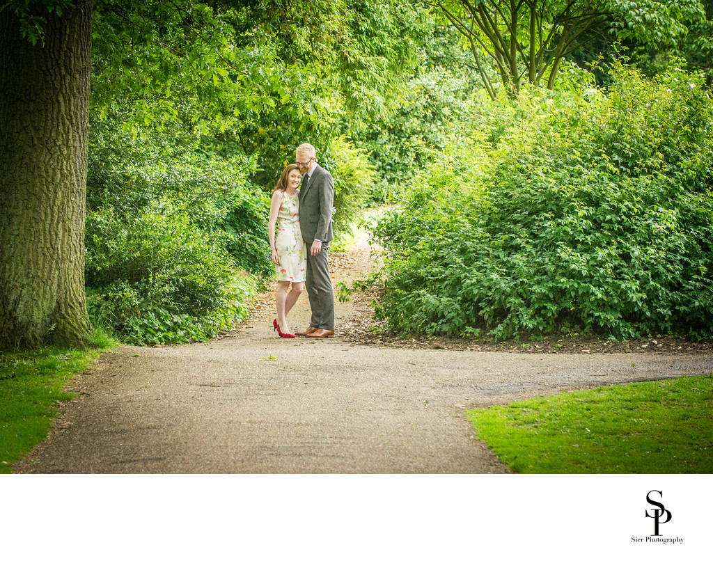Sheffield Engagement Photographer Botanical Engagement