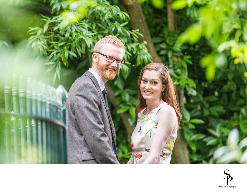 Botanical Gardens Sheffield Engagement Shots