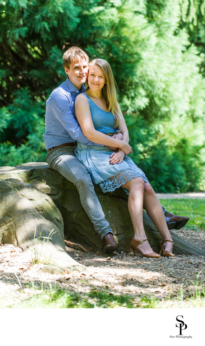 Sheffield Botanical Gardens Engagement Photography