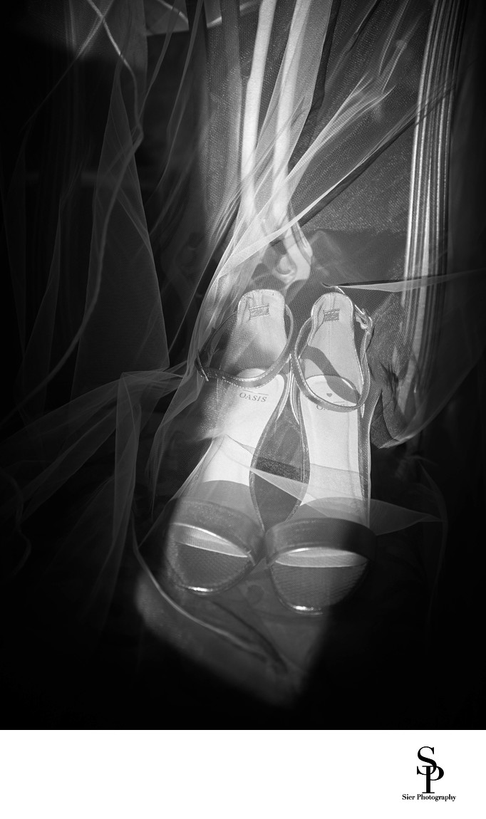 Wedding Photography Sheffield Shoes and Veil