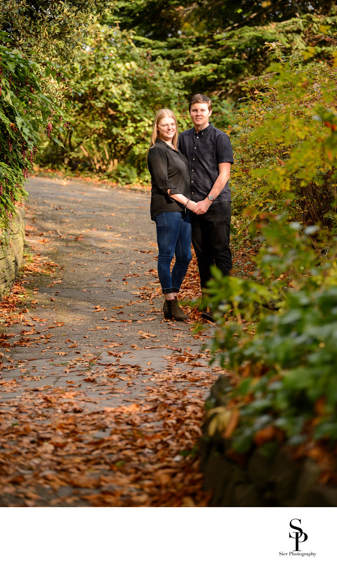 Botanical Gardens Autumn Engagement