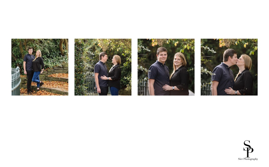 Autumn Botanical Gardens Engagement Photos