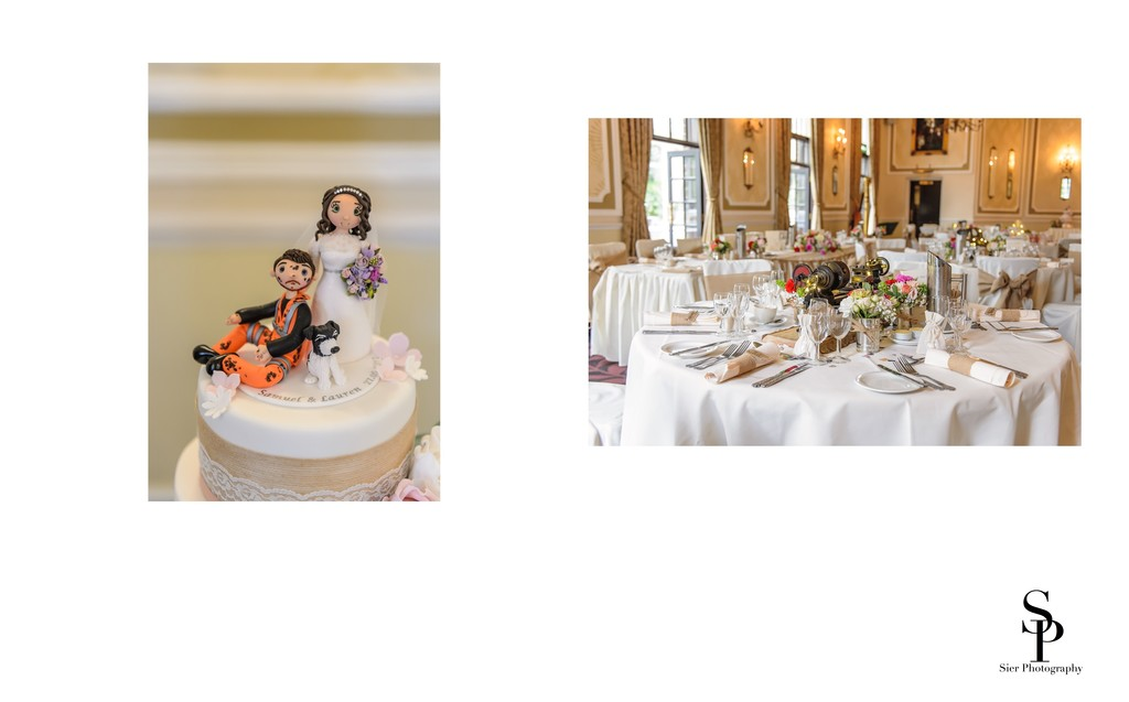 Cake Topper And Reception Room