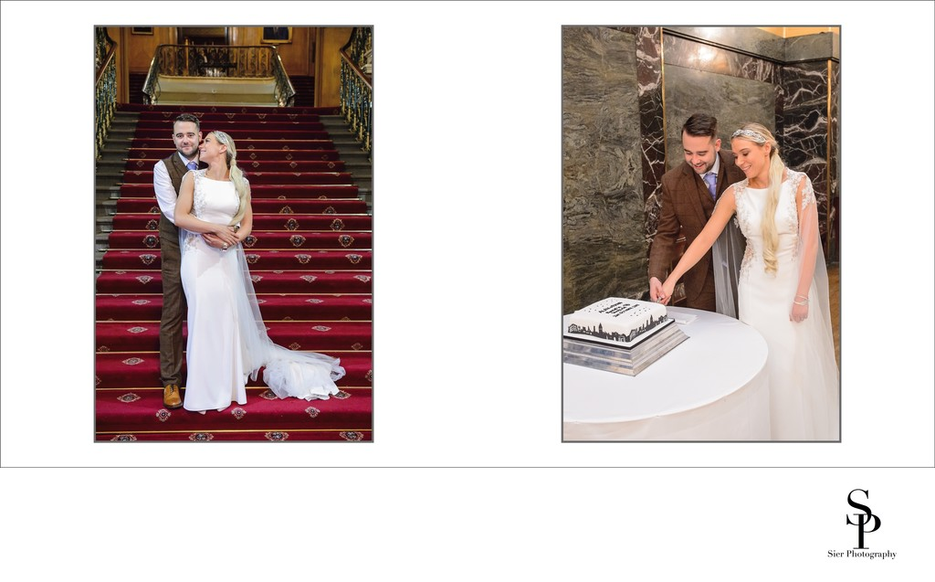 Portrait on the Stairs and Cake Cutting