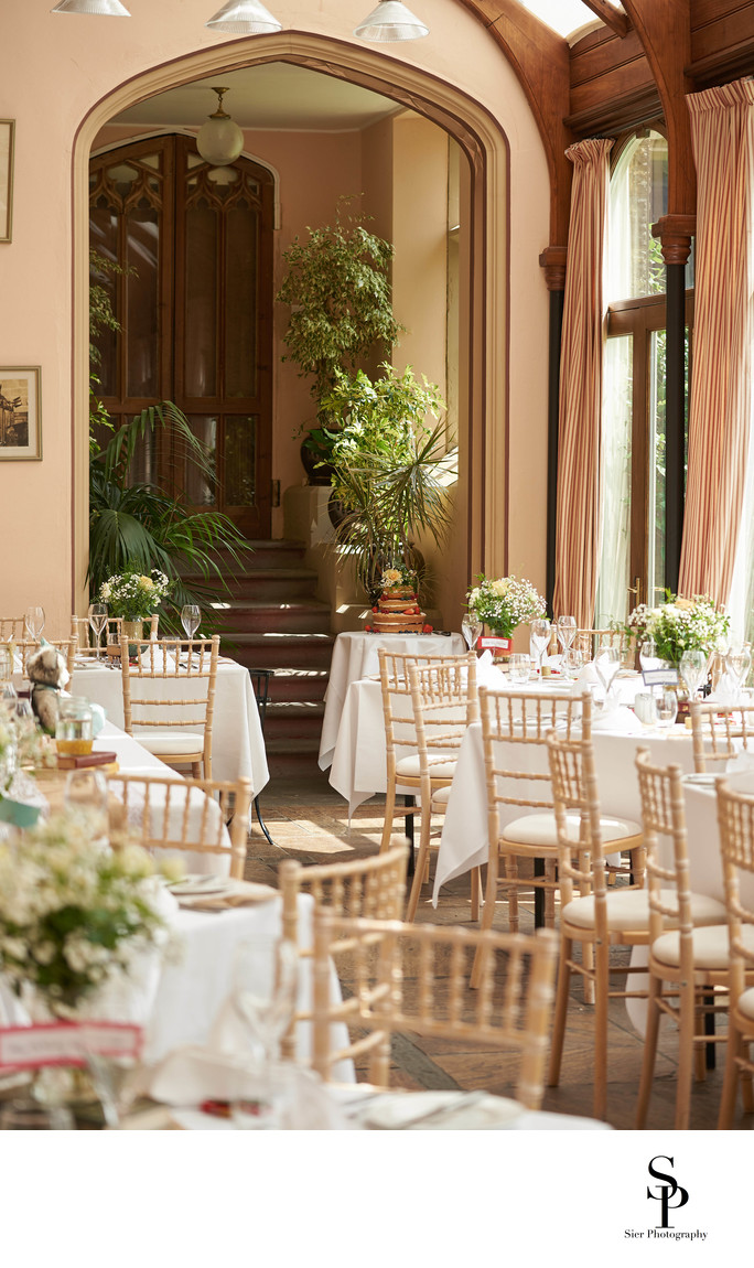 Cressbrook Hall Orangery Wedding Reception