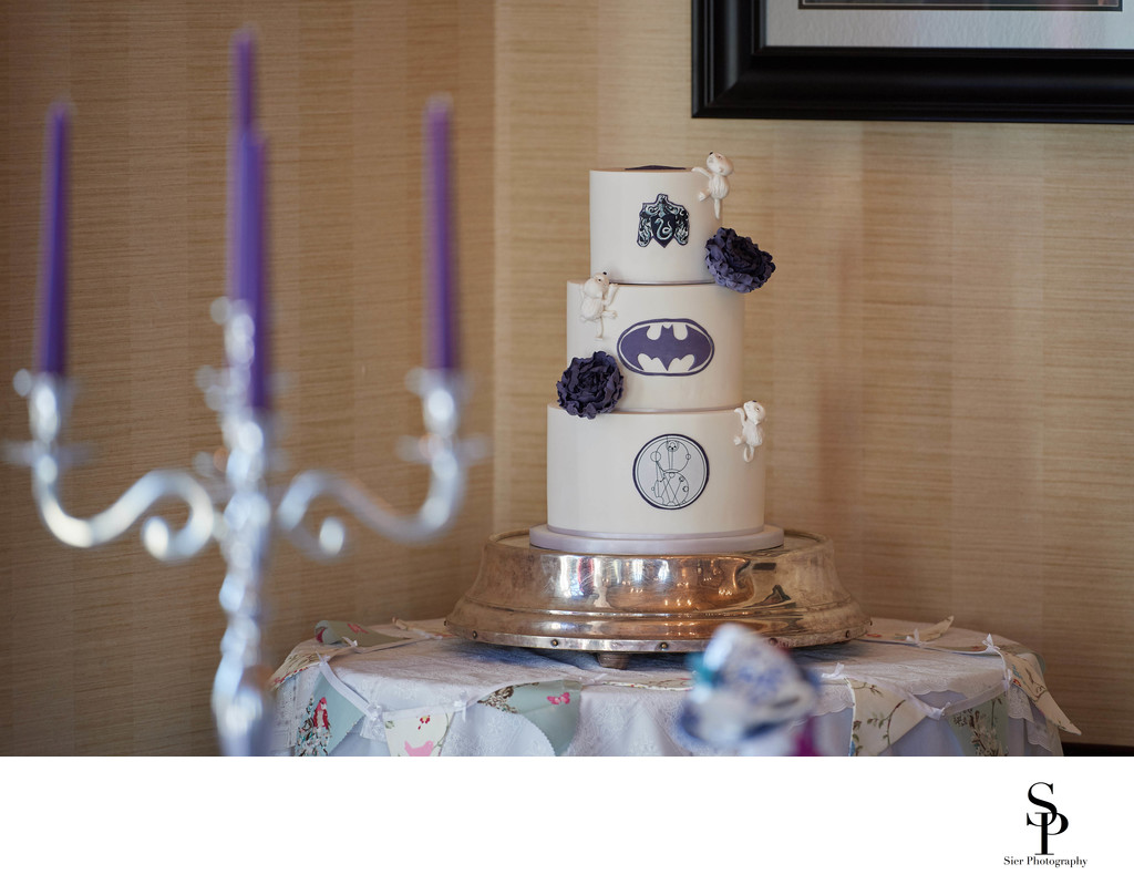 Batman meets Alice in Wonderland cake at Kenwood Hall