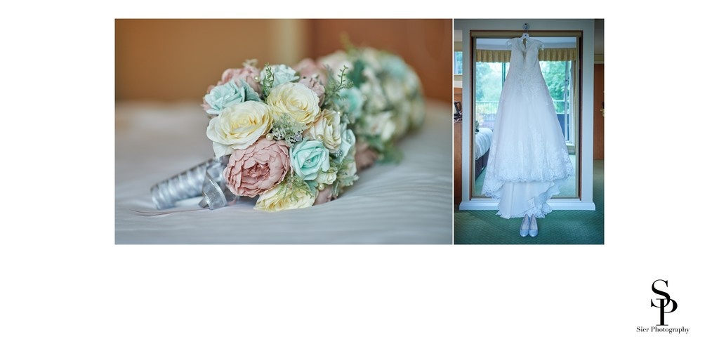 Wedding Day Flowers and Wedding Dress