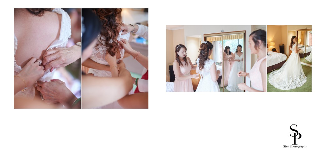 Final Bridal Preparations at Kenwood Hall Hotel