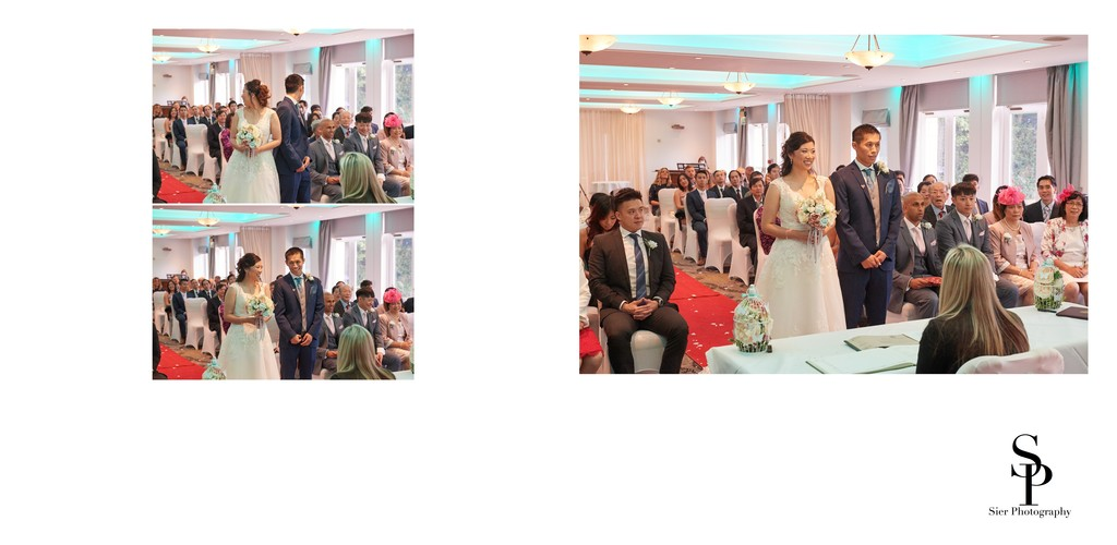 Bride & Groom Exchange Vows at a Kenwood Hall Wedding