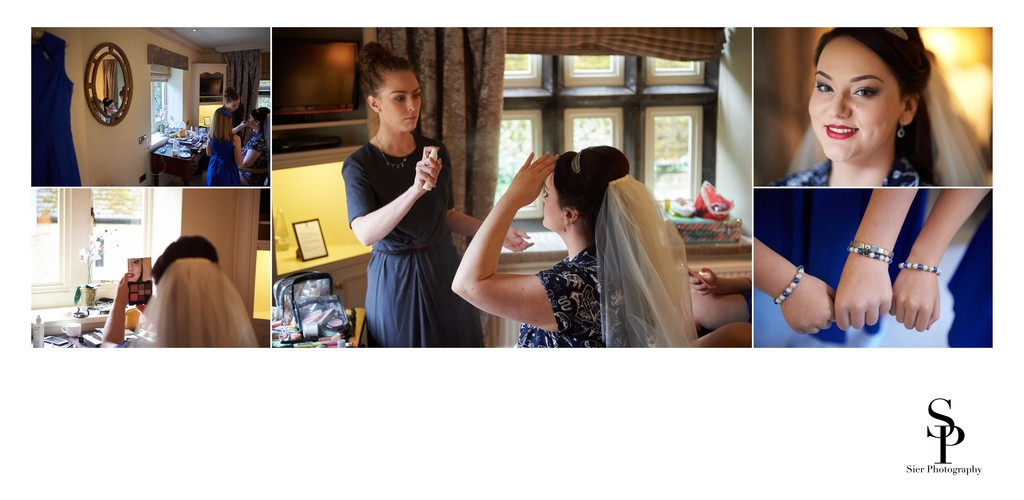 Finishing Touches Put To Makeup At Whitley Hall Wedding
