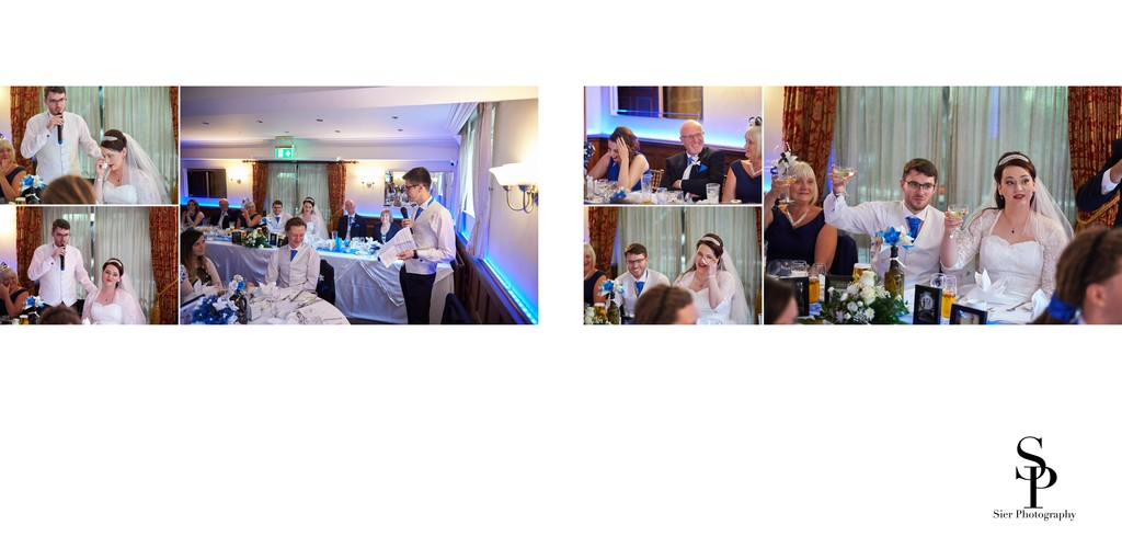Wedding Speeches at Whitley Hall Hotel