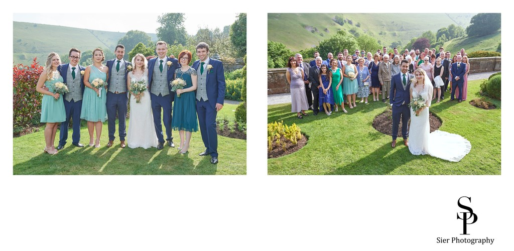 Wedding Guests at Cressbrook Hall