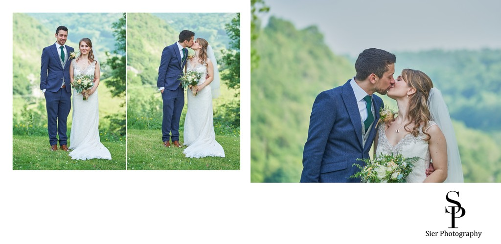 Bride and Groom Portraits at Cressbrook Hall