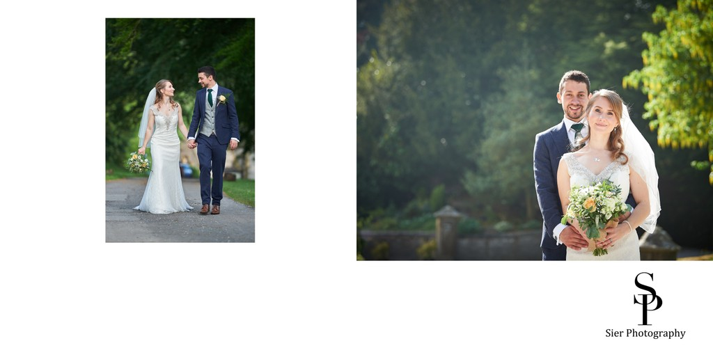 Bride and Groom at Cressbrook Hall