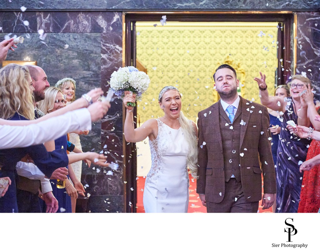 Sheffield Cutlers Hall Confetti Photo