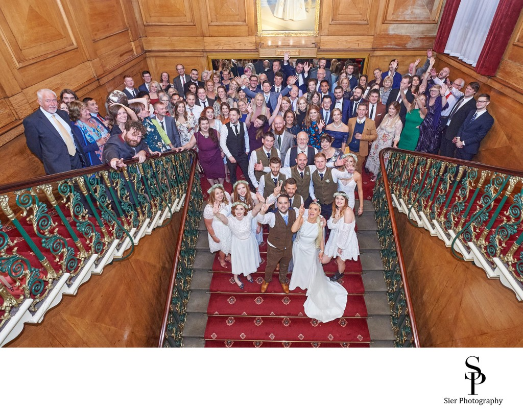 Cutlers Hall Sheffield Wedding Party Group Photograph
