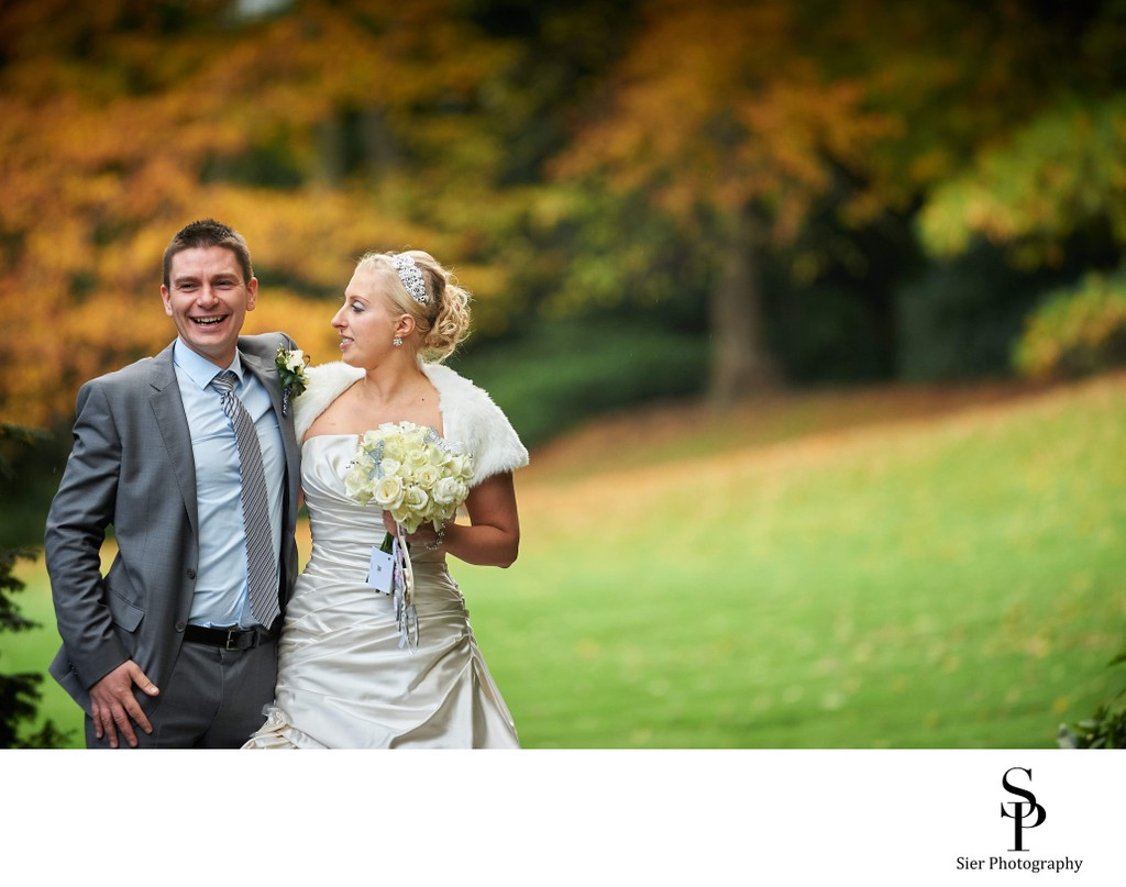 Kenwood Hall Autumn Wedding Photograph
