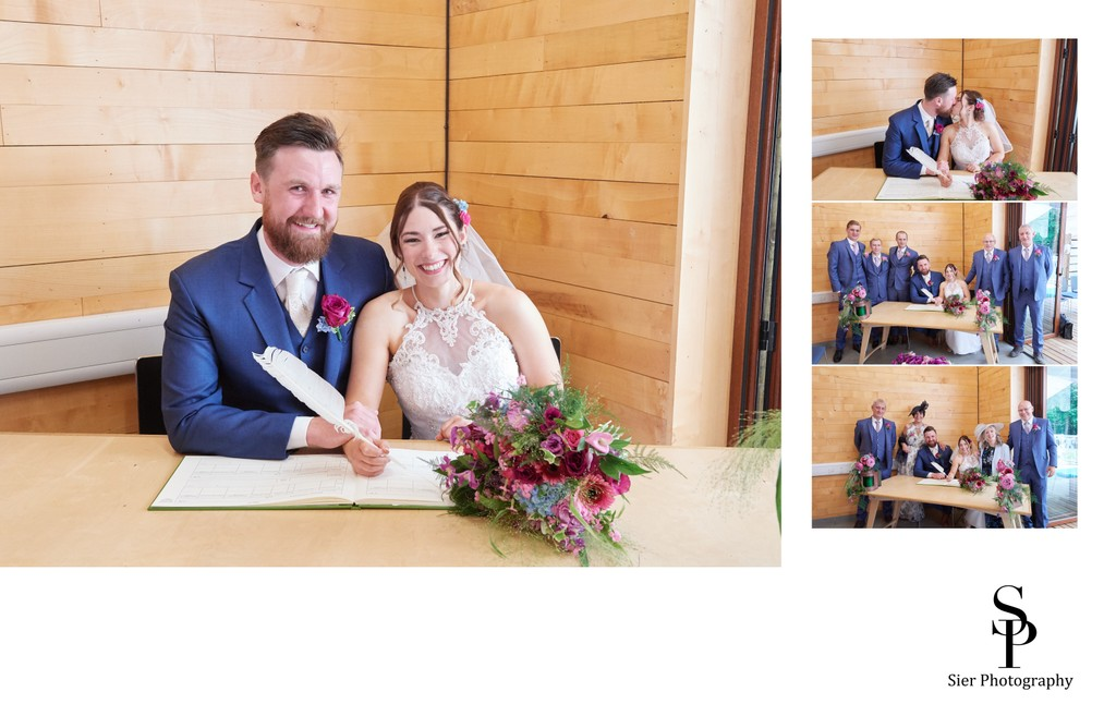 Ecclesall Woods Wedding Signing the Register