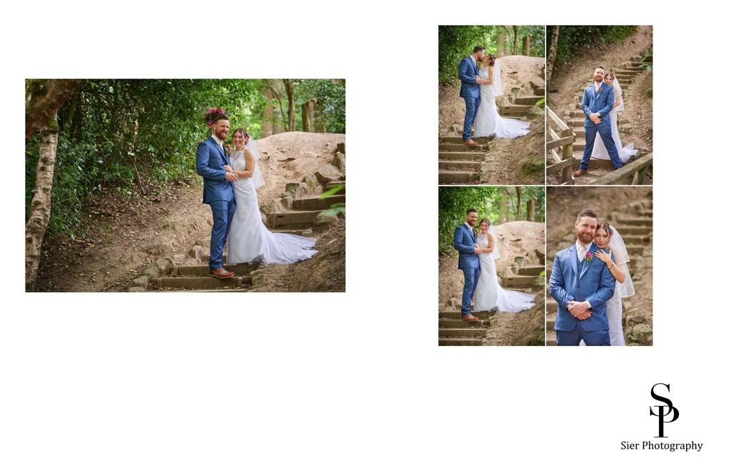 Bride and Groom Fun Pictures in Ecclesall Woods