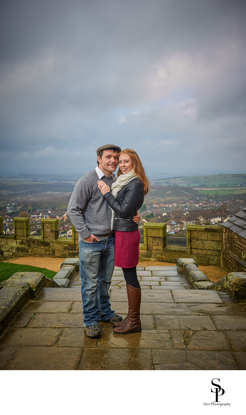 Bolsover Castle Walls Engagement Photograph