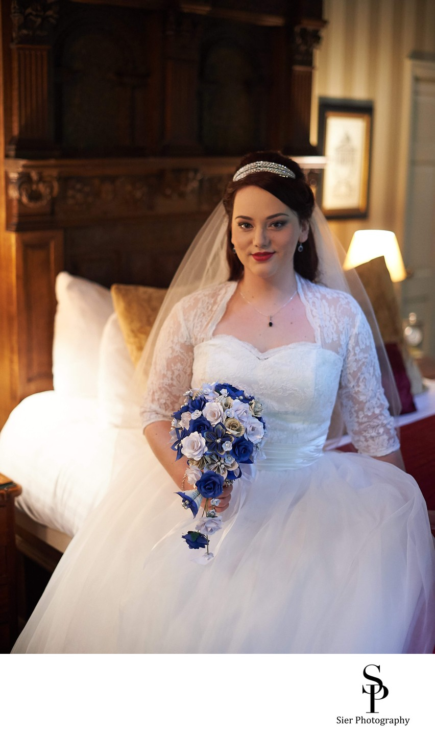 Whitley Hall Hotel Bridal Portrait