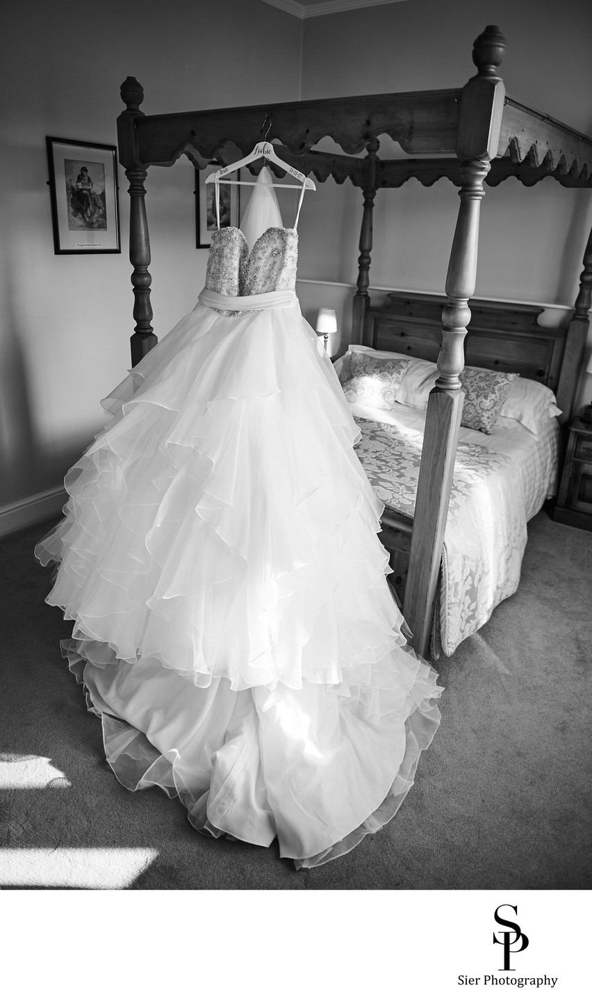 Wedding Dress at Cubley Hall Hotel Wedding